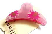 A Beautiful pink Flowery Hair Claw Clamp Clip
