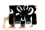 A Beautiful Black and white Hair Claw Clip Bull Dog Design