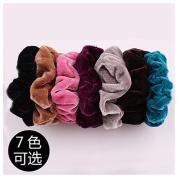 Lovef 7PCS Soft Elegant Velvet Hair Scrunchies Elastic Hair Bands Ties Donut Hair Ponytail Holder Hair Accessories