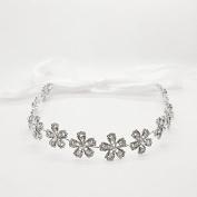 Bridal Flowers Crystal Headband Hairpin