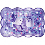 Fun Rugs TSC-225 3958 Purple Butterfly Accent Rug, 100cm by 150cm