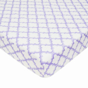 TL Care 100% Cotton Percale Fitted Crib Sheet, Lavender Moroccan, 70cm x 130cm