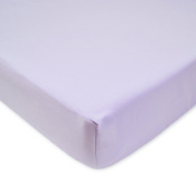 TL Care 100% Cotton Percale Fitted Crib Sheet, Lavender, 70cm x 130cm