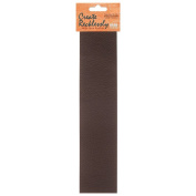 Create Recklessly, Symphony Faux Leather 25cm x 5.1cm Strip, 1 Piece, Fudge Brown