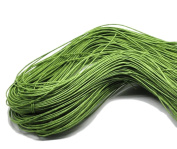 80 Metres x 1mm Green Braiding Beading Stringing Bead Cord Jewellery Bracelets Craft