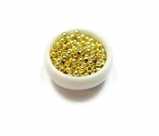 Foxy Findings 100 Pieces Super Tiny Bead Spacers, 1.80mm Bead Spacer, 24K Gold Plated SFG040
