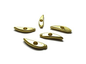 Foxy Findings Chilli Pepper Spacer, Heavy Weight Brass Matte 24K Gold Plated Spacer, 2 Pieces - SFG039