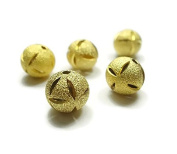 Foxy Findings Bead Spacers, 11mm Sand Dollar Bead 24K Gold Plated 4 Pieces Spacers - SFG021