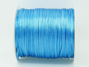 LIGHT BLUE 1mm Bugtail Satin Cord Shamballa Macrame Beading Nylon Kumihimo String