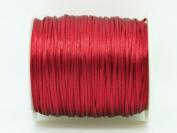 DARK RED 1mm Bugtail Satin Cord Shamballa Macrame Beading Nylon Kumihimo String