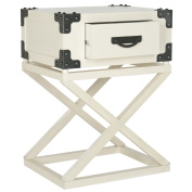 Safavieh American Homes Collection Dunstan White Accent Table