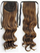60cm 80g Clip In Pony Tail Hair Extension Wrap Around Ponytail Hair Extension Piece Light Brown colour 6