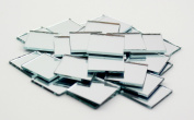 2.5cm Small Glass Square Craft Mirrors Bulk 100 Pieces Mosaic Tiles