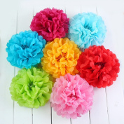 10 Pack- Tissue Paper Flower Ball Pom-poms For Party / Wedding / Home / Outdoor Decor
