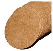 100pcs Blank Kraft Paper Tags 4CM Round Marked Card Hand Draw Tags Labelled Card Teaching Tags+20M String