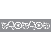 Andy Skinner Mixed Media Stencil - Incognito Gears - 30cm x 7.6cm - Steampunk