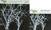 The Crafter's Workshop Set of 2 Stencils - Branches Reversed 30cm x 30cm Mini 15cm x 15cm - Includes 1 each TCW251 and TCW251s - Bundle 2 Items