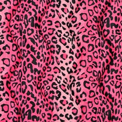 Pink Leopard Velboa Faux Fur Fabric - Sold By The Yard - 150cm / 150cm