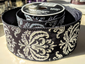 Black and Silver Royal Pattern Celebrate It 6.4cm . X 2.7m 100% Polyester Ribbon - Great for Any Occasion!