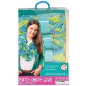 Bead Bazaar Sparkle Ruffle Scarf Kit, Aqua