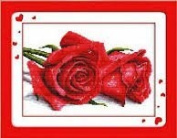 World Dragon Cross Stitch, The Lover of Rose 11 CT