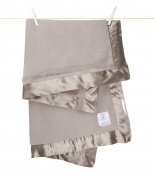 Little Giraffe Luxe Baby Blanket, Flax