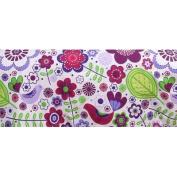 Bacati Crib Skirt, Botanical Purple