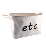 White Cotton Storage Bin for Home Organisation by BasketsBinsBoxes