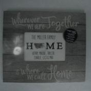 Kindred Hearts PZ Grey Slat Frame Where We Call Home