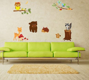 Cute Animal creative fashion home wall stickers living room bedroom home decorative painting nursery