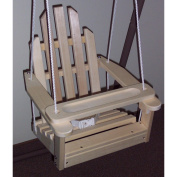 Unfinished Children's Adirondack Swing - Rope & Seat Belt Included - Weather Resistant Aspen Wood -41cm square x 50cm High - Made in USA -