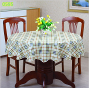 Round Table Cloth - Gingham Style