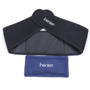 Inerzen Back and Waist Hot and Cold Gel Pad Therapy Wrap for Pain, Muscle, Stress Relief - Microwavable & Freezable
