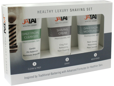 JATAI Trio Shaving Set - Simple 1, 2, 3 step system cleans, shaves, and moisturises to promote younger healthier looking skin