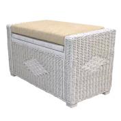 Rattan Chest Storage Ottoman model Adam Mat 3 Colours with Cushion. Handmade Home Furniture