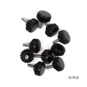 BCP 10-Piece M4x10mm Threaded Knurled Thumbscrew Grip Knobs Thumb Screw for Machinery Latche