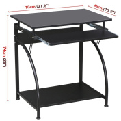 Topeakmart Computer Desk with Pullout Keyboard Tray MDF Study Table