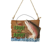 8.3cm Trout and About Fishing Plaque Christmas Ornament