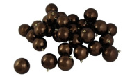 DAK 17022842 12 Count Shiny Chocolate Brown Shatterproof Christmas Ball Ornaments, 10cm