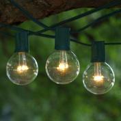 LED String Lights - 7.6m C9 Green & LED G50 Premium Bulbs Warm White