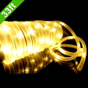 Meikee 10m 100 LED Solar Rope Lights,Waterproof Outdoor Portable Solar String Lights with Light Sensor,Ideal for Decorations,Christmas,Gardens,Lawn,Patio,Weddings,Parties.