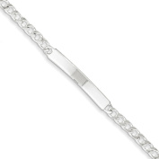 .925 Sterling Silver 5.00MM Curb Link ID Bracelet 7.00 and 8.00 Inches