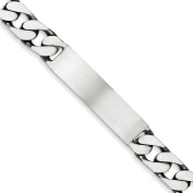 .925 Sterling Silver 9.00MM Antiqued Curb Link ID Bracelet 7.50 and 8.50 Inches