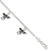 .925 Sterling Silver 2.00MM Angel Bracelet 7.00 Inches