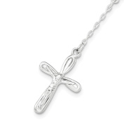 .925 Sterling Silver White, Rose and Yellow Single Decade Rosary Bracelet 19cm