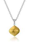 "GURHAN ""Clove Puff"" Sterling Silver Large Drop Pendant Necklace"