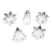 Mini Snowfall Cookie Cutter Set, 5 Count