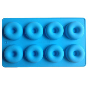FLY 8 Cavity Silicone Donut Pan Muffin Cups Fondant Baking Biscuit Mould