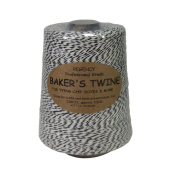Regency Wraps (REGAG) Regency Baker's Twine .5 LB Cone Black and White,, Black