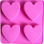 FLY Love Heart Shape Silicone Cake Mould Chocolate Making Moulds